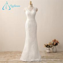 2017 Satin Sashes Lace Mermaid Wedding Gown Dress Bridal