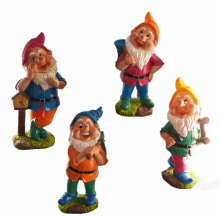 Colorful Lawn Decoration Labouring Dwarf for Spring Garden
