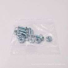 Kit de sujetadores Paquete de tornillos Arandela de resorte Tuerca hexagonal