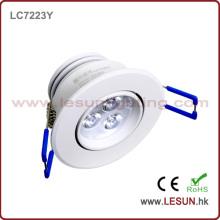Утопленное 3W светодиодный потолочный свет шкафа LC7223y