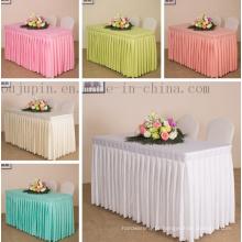 Toalha de mesa feita sob encomenda da tampa de pano da tabela da reunião do casamento do banquete do hotel do poliéster