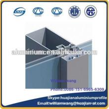 Perfil de aluminio de la pared de cortina, perfil de aluminio del grano para las ventanas, perfil revestido del polvo, perfil de la rotura termal,