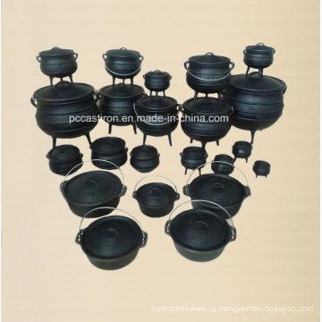 Полноразмерный предсезонный чугун Potjie Pots / Cauldron