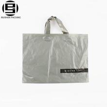 Saco de alça de laço de plástico promocional HDPE promocional quente cinza