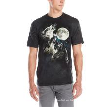Camiseta con estampado 3D de animales con estilo para hombre