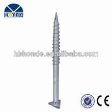 Hot dipped galvanized Ground screw with flange