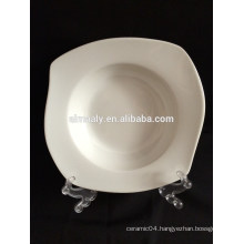 restaurant white porcelain square deep plate