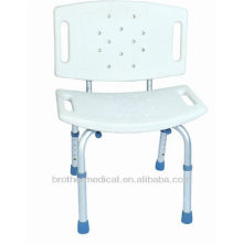 Aluminum shower chair with back