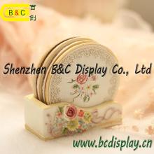Porta copos de papel personalizado impresso, estampagem de papel absorvente redonda personalizada com SGS (B & C-G117)