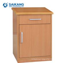 SKS020 Hospital Wood Medical Drawers Bedside Cabinet Hospital