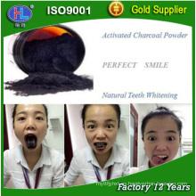 Blanqueamiento de dientes activado polvo de carbón grado alimenticio
