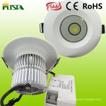 Recesso de 9W LED luz de teto para aplicação interior