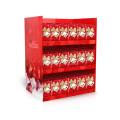 Weihnachten Karton Werbung / Ausschnitt Standbekleidung Display