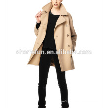 2017 coréen mode style femmes 100% laine manteaux d'hiver