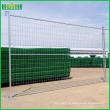 Pvc revestido de 6 pies de construcción canada valla temporal
