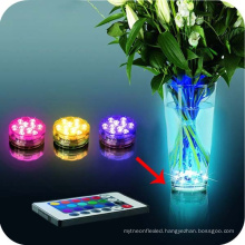 Remote Control Diving Decoration Waterproof Multi Colored Submersible 10 LED Party Underwater Lamp