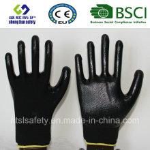 13G Polyester Shell mit Nitril beschichteten Arbeitshandschuhen (SL-N111)