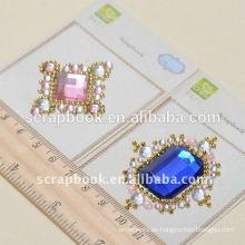 heißer Verkauf dekorative Aufkleber / großes Juwel Sticker für angepasst