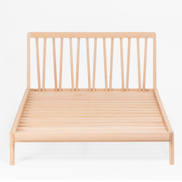 Moderne soveværelse Solid Wood Queen King Size Bed