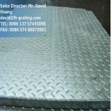 Rejilla de acero galvanizado compuesto con placas Checker
