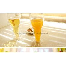 Bar de moda Drinkware creativo Upside Copa de cristal de cerveza clara