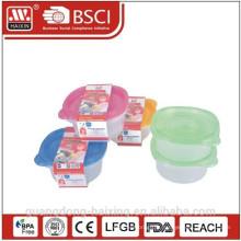 Rond alimentaire en plastique conteneur 0.95L(2pcs)
