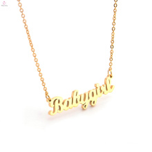 New Fashion Custom Stainless Steel Name Plate Letter Monogram Necklace