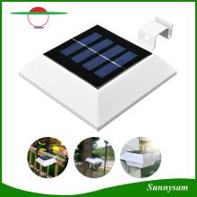 Lampe solaire carrée 4 LED PIR Capteur de mouvement Gouttière de toit Lampe de clôture de lumière solaire Lampe solaire extérieure