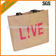 high quality and eco natural jute bags with logo