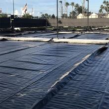 Coal ash dam liner/HDPE geomembrane