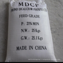 Poudre blanche 21% Mono Dicalcium Phosphate (MDCP) pour Feed