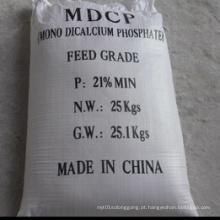 Pó Branco 21% Fosfato Dicalcio Mono (MDCP) para Alimentação