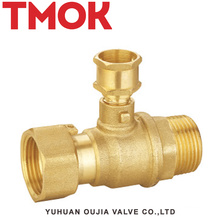 special designed active joint external thread brass stop valve