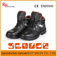 Chemical Resistant Winter Safety Shoes with Artifical Fur Lining RS820