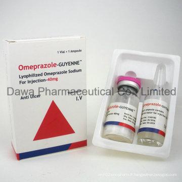 Médecine générale Omeprazole 20mg Injection pour Gastrohelcosis et Stomach Acid