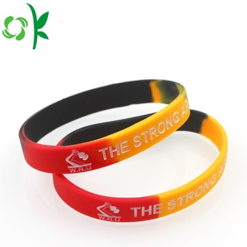 Thời trang Gradients in Logo Epoxy Silicone Bracelet