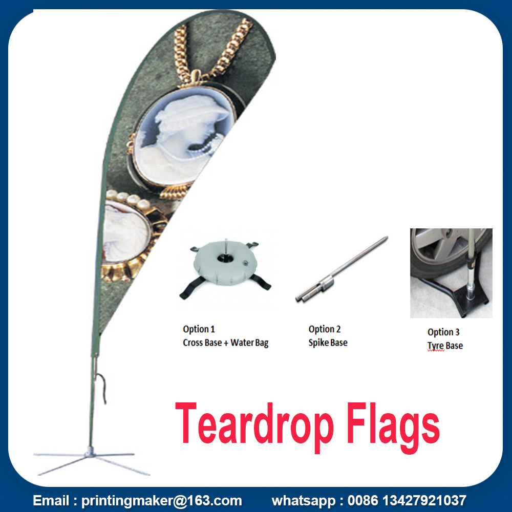 teardrop flags with kits