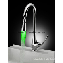 Brass LED Kitchen Faucet