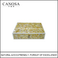 Handmade Golden Mother of Pearl Seashell Bathroom Amenity Box