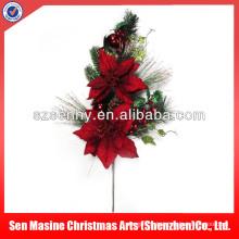 Choix floraux de Noël en plastique de luxe