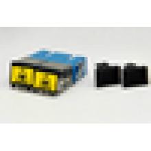 Волоконно-оптический адаптер SC Дуплексный адаптер затвора уменьшенный фланец