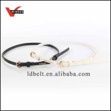 Slimming dress fashionable PU belt