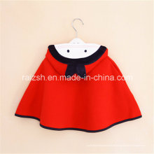 Mädchen-Mantel-koreanische rote mit Kapuze Umhang-Umhang