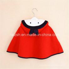 Manteau de filles cape à capuche rouge coréenne