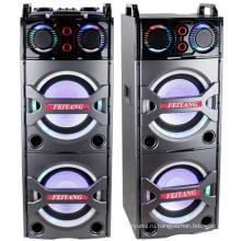 Двойной 10-дюймовый с Bluetooth громкоговорителя PA караоке система, беспроводной микрофон E246
