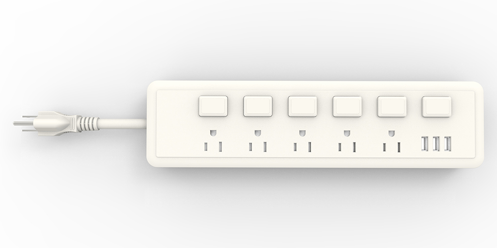 USB Charger Power Strip Individual Switches