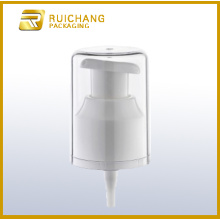 Plastic lotion pump with AS overcap