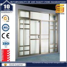 Puerta corredera y levadiza de aluminio doble de Lowe Glass Break