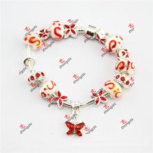 Moda agradável grânulo de vidro encantos pulseira jóias de cadeia (LDF60226)