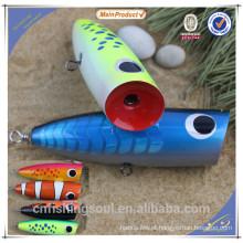 WDL020 12 cm 15 cm artificiais isca de pesca isca popper artificial isca de pesca de madeira duro